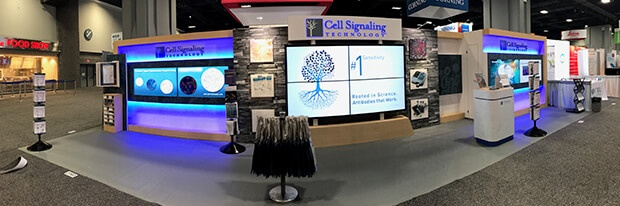 Cell Signaling Technology trade show booth